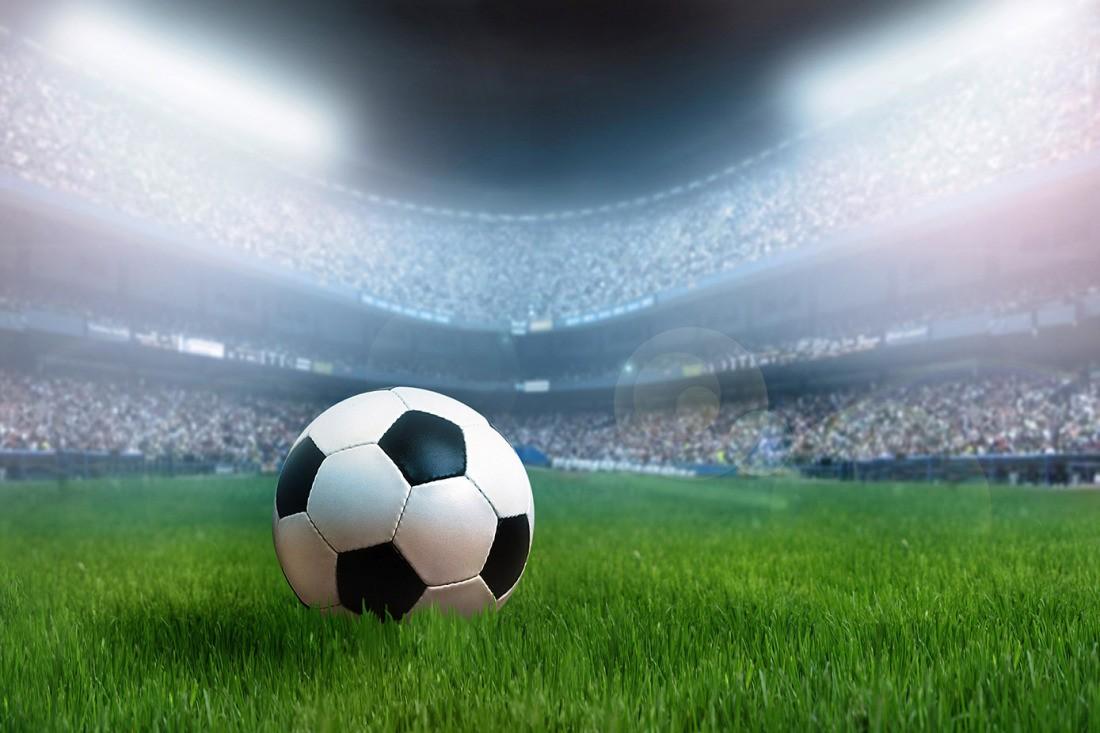 3d Fototapete Fussball Im Stadion