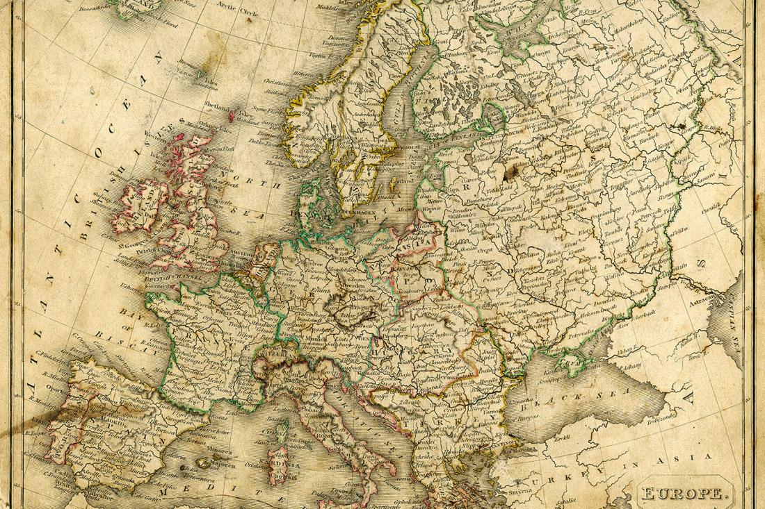 Jetzt Bestellen Fototapete Landkarte Europa Vintage