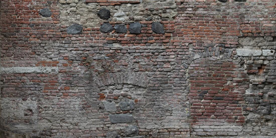 Fototapete Ziegel Wand alte Stein Mauer 1280x1280 - Tapete Alte Mauer