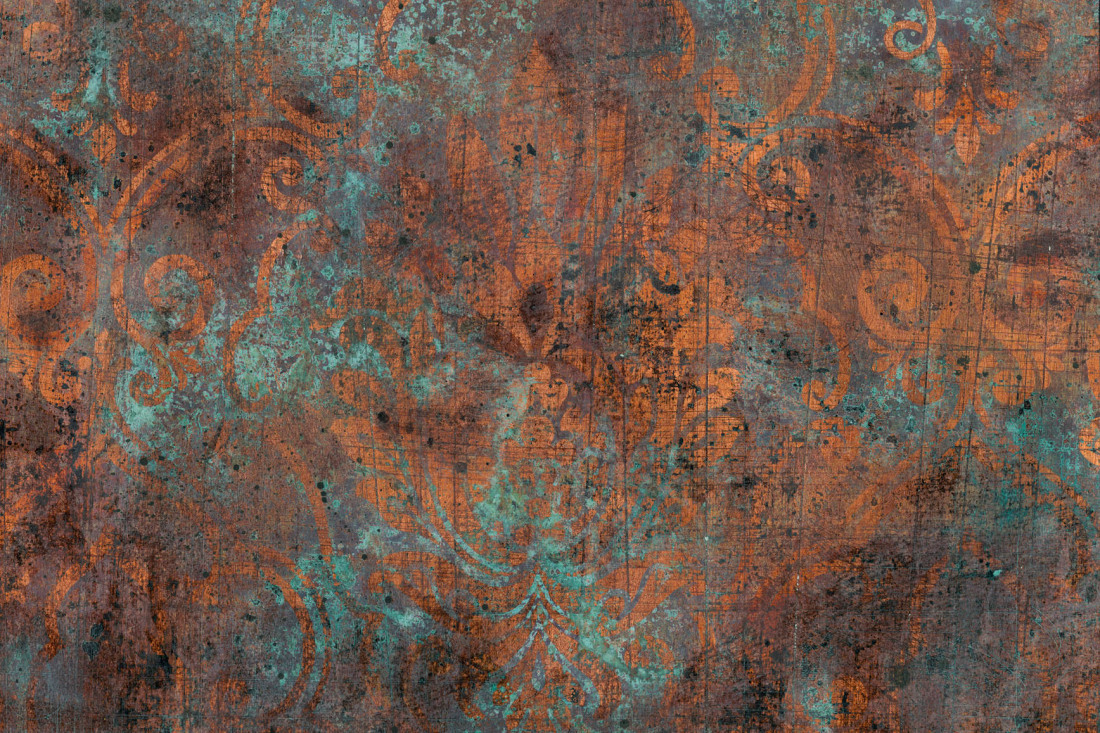 jetzt bestellen fototapete barock ornament patina braun livingwalls. Black Bedroom Furniture Sets. Home Design Ideas
